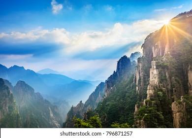 Huangshan Mountain (Yellow Mountain), located in Anhui, China.