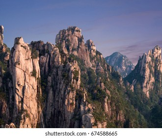 Huangshan Mountain (Yellow Mountains), China. Of all the notable mountains in China, it is probably the most famous to be found in the south of Anhui province.