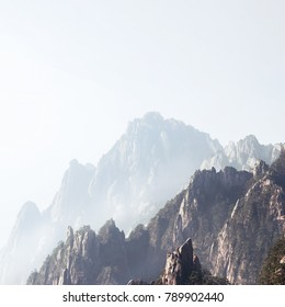 Huangshan Mountain (Yellow Mountain), Huangshan National Park, Anhui Province, China.