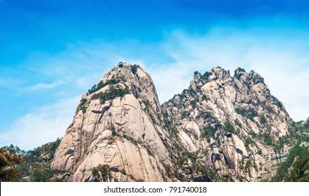 Huangshan Mountain (Yellow Mountain), Huangshan National Park, Anhui Province, China.