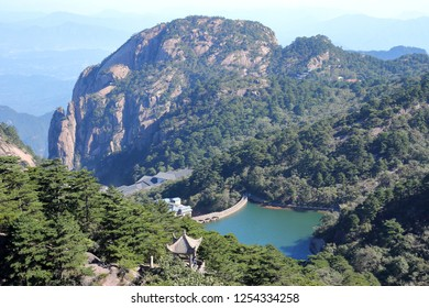 Huangshan Reservoir in Huangshan  City, Anhui Province, China.