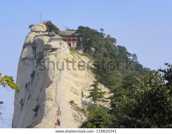 Huashan . Shanxi province. China. Mount Hua, Mount-Lotus - one of the sacred mountains of  Taosism.