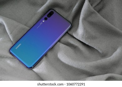 huawei p20 pro twilight color launch on april 1 ,2018 bangkok ,thailand