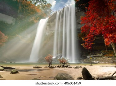 Huay Luang Waterfall, Phu chong Na Yoi National Park, Ubon Ratchathani, Thailand