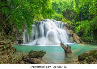 Huay Mae Kamin waterfall National Park Kanjanaburi Thailand