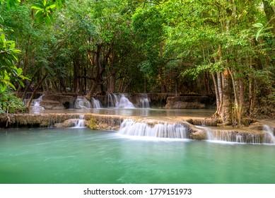 Huay Mae Khamin in KhuanSrinagarindra National Park Thailand