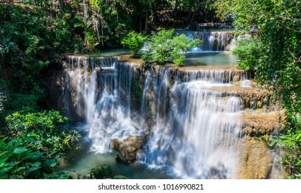 Huay mae khamin waterfall in Thailand