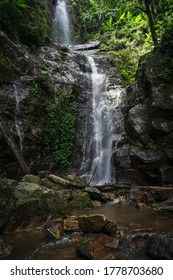 Huay Tueng Thao Waterfall in Chiang Mai Thailand is a small waterfall located in the mountain forest of Doi Suthep, very close to the city, very tall and very beautiful in the rainy season.