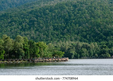 Huay Tung Tao Lake is one of the most popular for tourist destination in Chiang Mai.