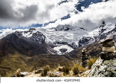 Huaytapallana mountain located in Huancayo Peru, considered a Quechua god or Apu at 5200 meters above sea level