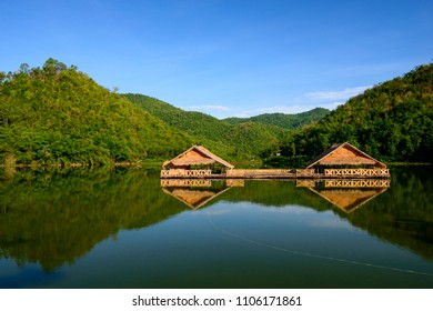 Hub Kao Wong Reservoir at  Dan Chang District,   Suphan Buri  Province.