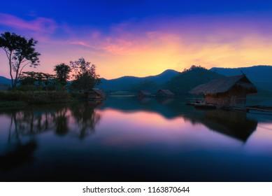 Hub kao Wong Reservoir Tourist attraction in Dan Chang Suphanburi , Thailand. Translation in images Hub Kao Wong Reservoir.