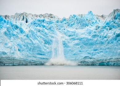 Hubbard Glacier Calving - Natural Phenomenon, soft focus