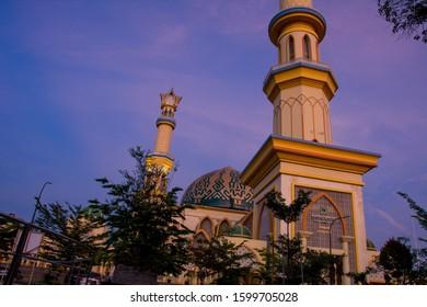 Hubbul Wathan Mosque, Islamic Centre of West Nusa Tenggara, Lombok, Indonesia at Sunrise