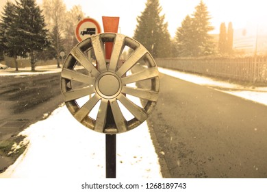 Hubcap from a car wheel