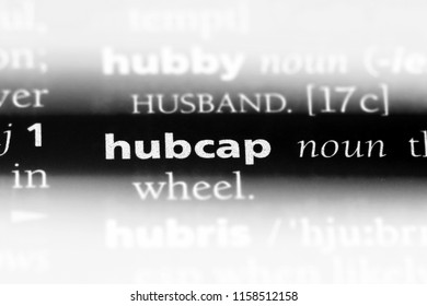 hubcap word in a dictionary. hubcap concept.