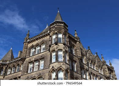 Huddersfield, UK - town in Kirklees region of West Yorkshire. Old architecture.