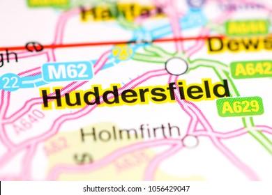 Huddersfield. United Kingdom on a map