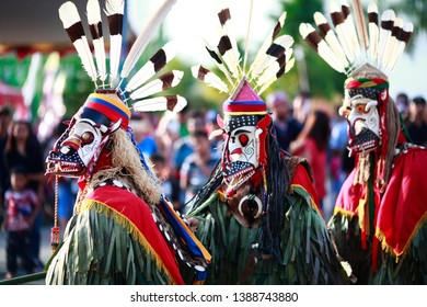 Hudoq dance is typical culture of Dayak tribe