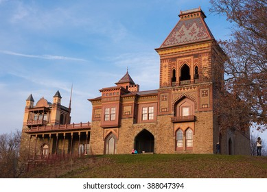 HUDSON, NEW YORK USA - NOVEMBER 11, 2015: Olana State Historic Site.  The home of Frederic Edwin Church in Hudson New York, USA.