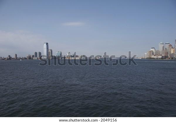 Hudson River between Manhattan and New Jersey - Upper New York Bay, NYC, USA