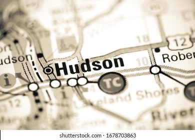 Hudson. Wisconsin. USA on a map