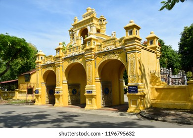 Hue City, Vietnam - 13 July 2018: The Gate of Hue Monuments Conservation Centre