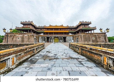 Hue - Vietnam. December 08, 2015. Imperial Enclosure Top choice historic site in Hue, Vietnam.