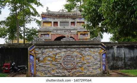 Hue, Vietnam: January 4th, 2020. Hue Imperial City is also known as the Citadel in Hue, Vietnam.