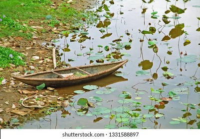 Hue, Vietnam,  small boat on the Perfume river.