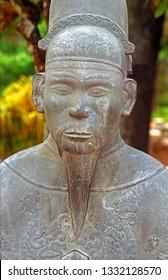 Hue, Vietnam, the Thien Dinh Palace decorative statue.