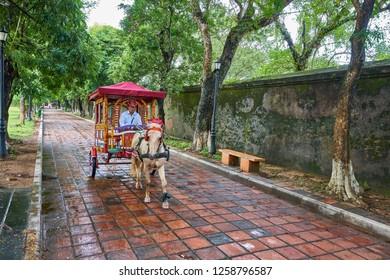 Hue, Vietnam-03 December 2014:Hue Citadel, Imperial Royal Palace, Forbidden city in Hue, Vietnam