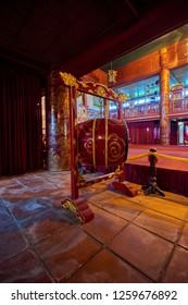 Hue, Vietnam-03 December 2014:Tomb in Hue Citadel, Imperial Royal Palace, Forbidden city in Hue, Vietnam