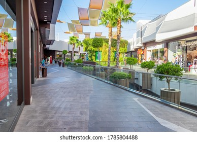 Huelva, Spain - July 27, 2020: Holea Shopping center. Holea is a major mall in Huelva it opened in late 2013. Holea is a outdoor mall