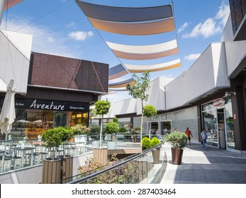 HUELVA, SPAIN - JUNE 12 2015 Holea is a major shopping mall in Huelva it opened in late 2013 it has 2,200 free parking spaces and is  spread over two floors.