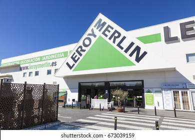 Huelva, Spain - June 3, 2017: French building supplies store chain Leroy Merlin in the city of Huelva. Andalusia, Spain