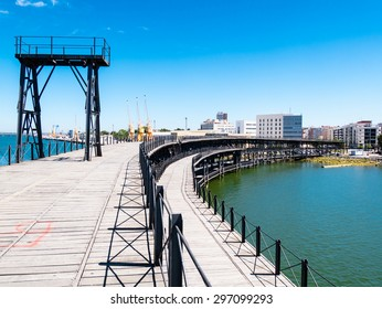 HUELVA, SPAIN - MAY 30: Odiel River port on May 30, 2015 in Huelva, Spain. This city is in the confluence of the Odiel and Tinto rivers.
