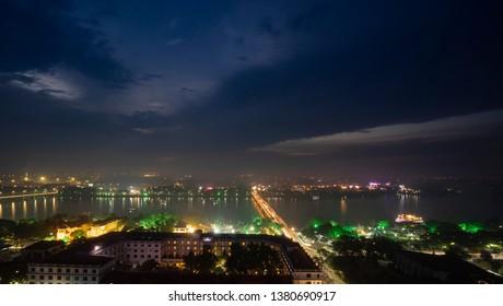 Hue.Thua Thien Hue/Vietnam - 04252019: Hue city by night