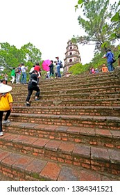 HUE-VIETNAM-OCTOBER 29 : View of the Thien Mu Pagoda  at Vietnam temple. Hue, Hue the local town on Central Region of Vietnam, October 29, 2018, Hue, Vietnam.