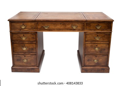 A huge antique wooden office desk