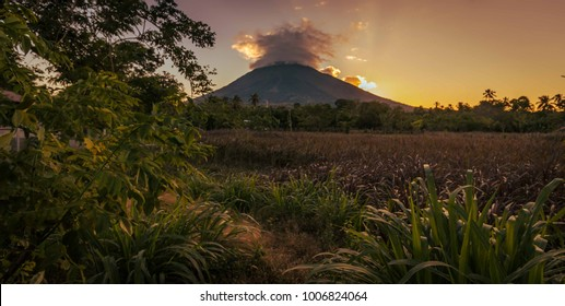 Huge beautiful volcano in Ometepe, Nicaragua