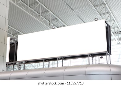 huge Blank Billboard with empty copy space in airport (path in the image), shot in china, Guangzhou airport
