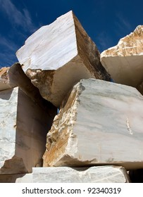 Huge blocks of marble from an extraction industry in Portugal(Alentejo).