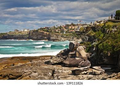 Huge blue waves near Sydney, Australia