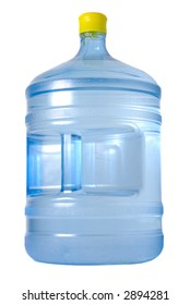 Huge bottle with water isolated over white background