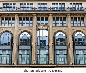 huge buildings in Berlin at summer time. facade of a modern building. High residential building