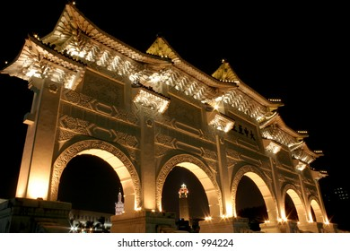 Huge Chinese Memorial Temple