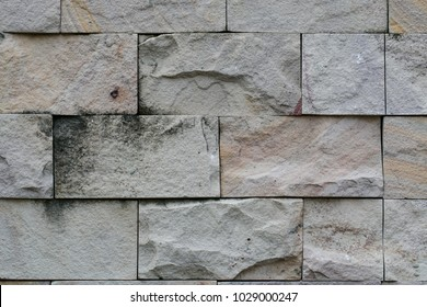 huge closeup brick wall with black dirty stain, stone wall for backdrop background