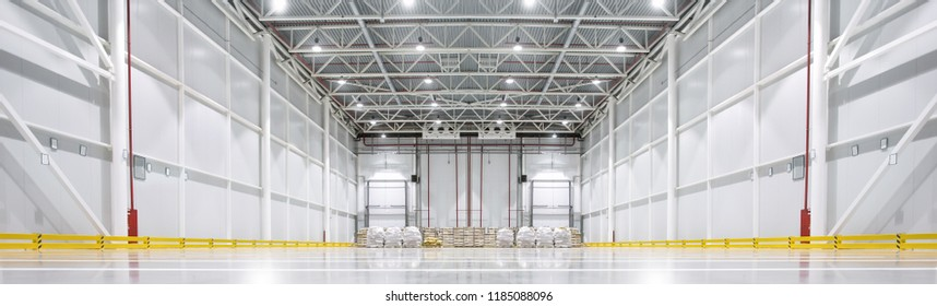 Huge cold storage warehouse. Bottom view.