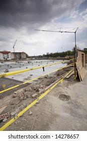 huge construction area